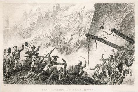 Cornwallis Leads the Storming of Seringapatam--Stretched Canvas Print
