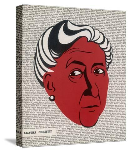 Crime Author, Agatha Christie (1890-1976)--Stretched Canvas Print