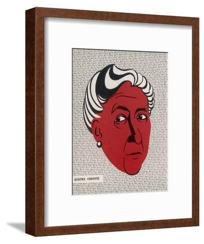 Crime Author, Agatha Christie (1890-1976)--Framed Art Print