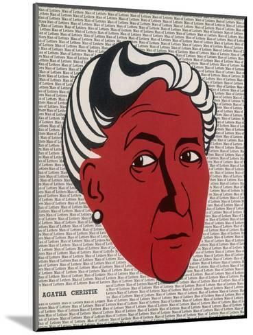 Crime Author, Agatha Christie (1890-1976)--Mounted Giclee Print