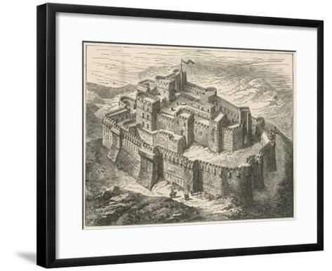 Crusaders' Fortress--Framed Art Print