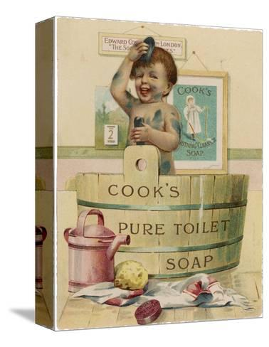 Cook's Pure Toilet Soap--Stretched Canvas Print