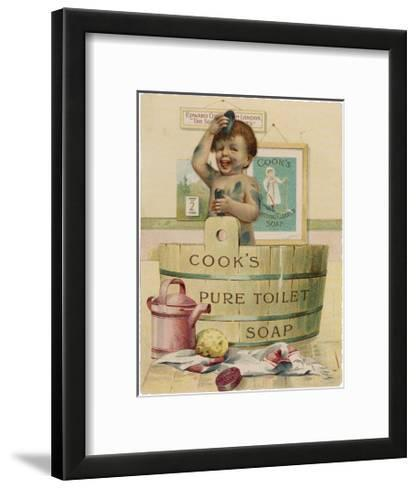 Cook's Pure Toilet Soap--Framed Art Print