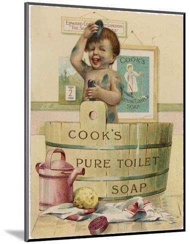 Cook's Pure Toilet Soap--Mounted Giclee Print