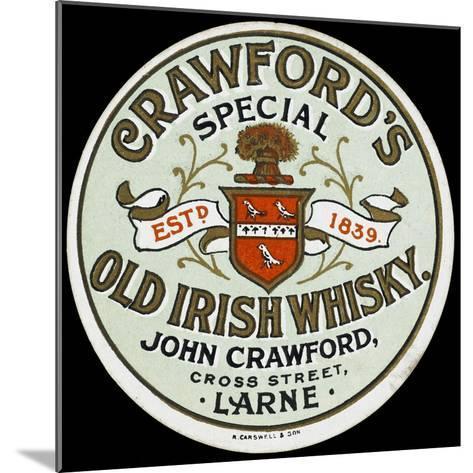 Crawford's Old Irish Whiskey--Mounted Giclee Print