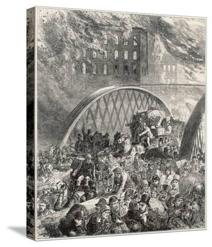 Chicago Fire 1872--Stretched Canvas Print