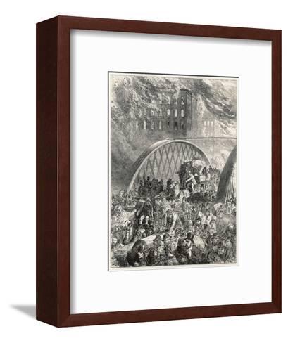 Chicago Fire 1872--Framed Art Print