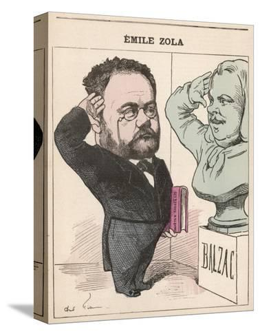 Emile Zola French Novelist Paying His Respects to Balzac--Stretched Canvas Print