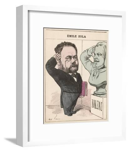 Emile Zola French Novelist Paying His Respects to Balzac--Framed Art Print