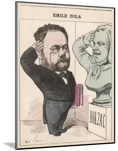 Emile Zola French Novelist Paying His Respects to Balzac--Mounted Giclee Print