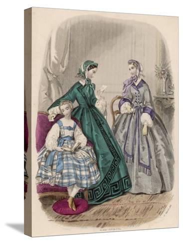 Fashions for Feb. 1861--Stretched Canvas Print