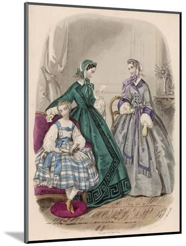 Fashions for Feb. 1861--Mounted Giclee Print