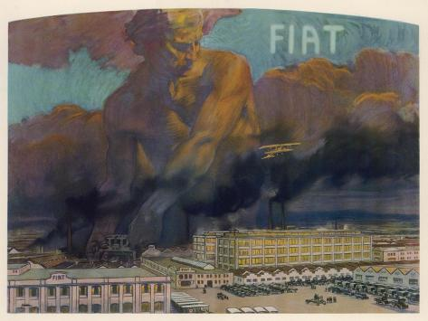 Fiat Factory, Torino--Stretched Canvas Print
