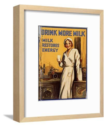 Drink More Milk Poster--Framed Art Print