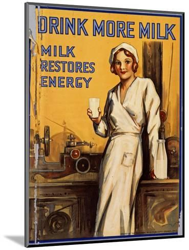 Drink More Milk Poster--Mounted Giclee Print