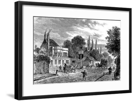 Engraving Showing the 'Bull and Last' Public House in Kentish Town, During the 19th Century--Framed Art Print