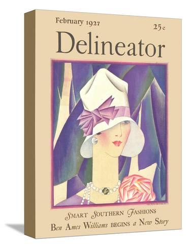 Delineator Front Cover, February 1927--Stretched Canvas Print
