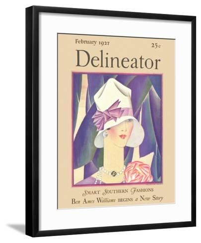 Delineator Front Cover, February 1927--Framed Art Print