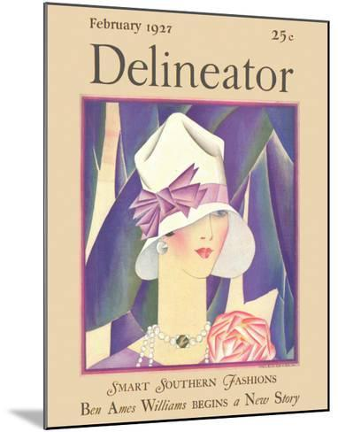 Delineator Front Cover, February 1927--Mounted Giclee Print