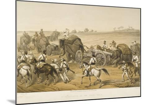 Elephants are Used to Haul Artillery, Forming a 'siege Train', During the Indian Mutiny--Mounted Giclee Print