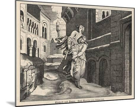 Einhard and Emma--Mounted Giclee Print