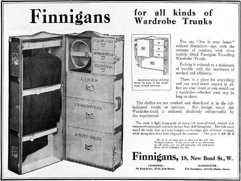 Finnigans Wardrobe Trunk--Stretched Canvas Print