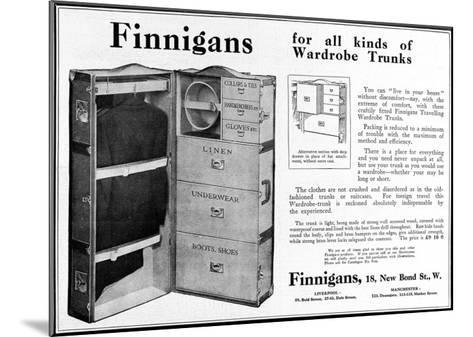 Finnigans Wardrobe Trunk--Mounted Giclee Print