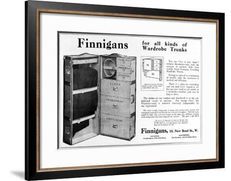 Finnigans Wardrobe Trunk--Framed Art Print