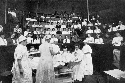 Female Doctors in Training--Stretched Canvas Print