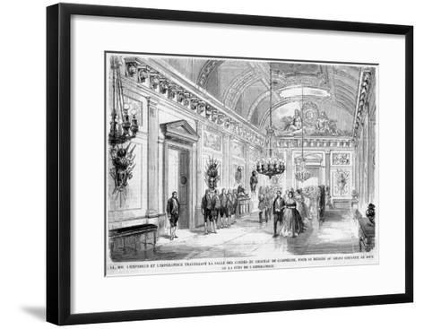 Empress Eugenie's Birthday Is Celebrated at Compiegne--Framed Art Print