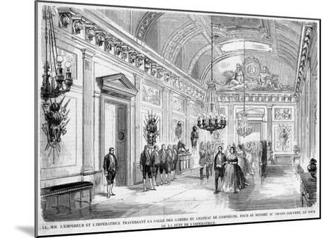 Empress Eugenie's Birthday Is Celebrated at Compiegne--Mounted Giclee Print