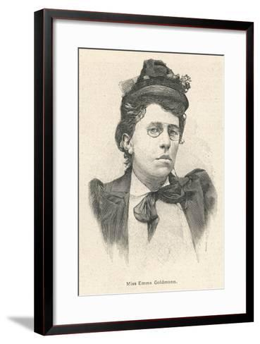 Emma Goldman Lithuanian-Born American Anarchist Politician and Agitator--Framed Art Print