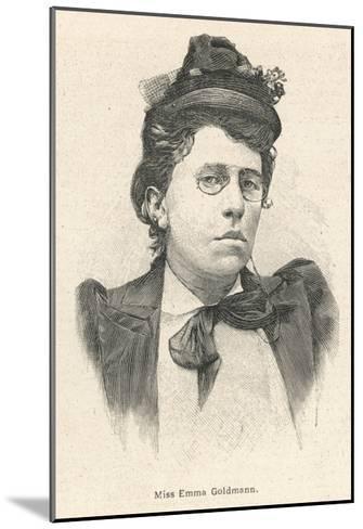 Emma Goldman Lithuanian-Born American Anarchist Politician and Agitator--Mounted Giclee Print
