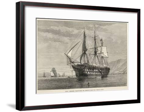 Engraving of H.M.S Gibralter, a Training-Ship for Destitute Irish Boys, Belfast Lough--Framed Art Print