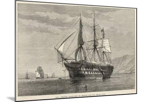 Engraving of H.M.S Gibralter, a Training-Ship for Destitute Irish Boys, Belfast Lough--Mounted Giclee Print