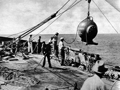 Dr. Beebe's Bathysphere, August 1934--Stretched Canvas Print