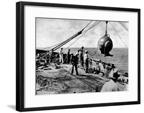Dr. Beebe's Bathysphere, August 1934--Framed Art Print