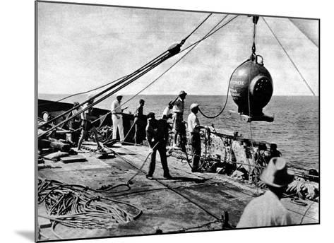 Dr. Beebe's Bathysphere, August 1934--Mounted Giclee Print