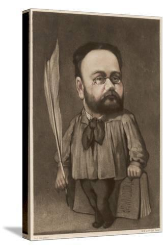 Emile Zola French Writer and Champion of Dreyfus--Stretched Canvas Print