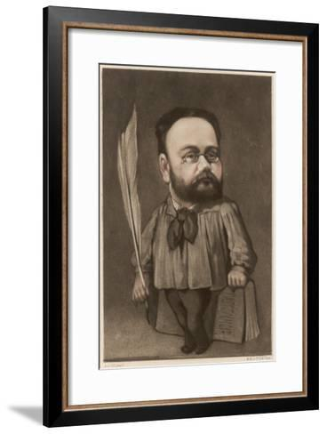 Emile Zola French Writer and Champion of Dreyfus--Framed Art Print
