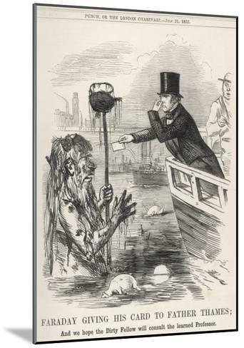 Faraday Giving His Card to Father Thames--Mounted Giclee Print