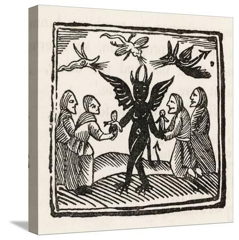 Demon and Witches--Stretched Canvas Print