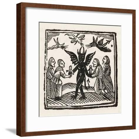Demon and Witches--Framed Art Print