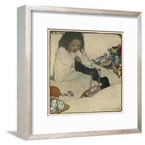 Extraordinary Number of Presents in Her Stocking--Framed Art Print
