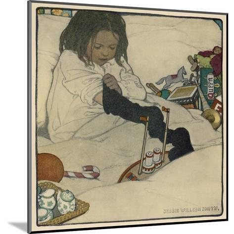 Extraordinary Number of Presents in Her Stocking--Mounted Giclee Print