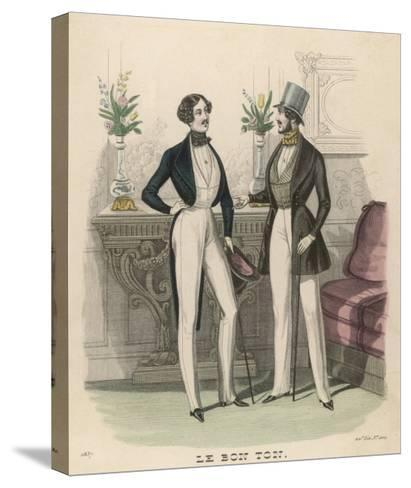 Fashion Plate, 1837--Stretched Canvas Print
