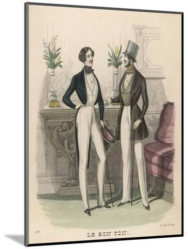 Fashion Plate, 1837--Mounted Giclee Print