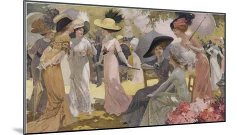 Fashionable Ladies at a Paris Garden Party--Mounted Giclee Print