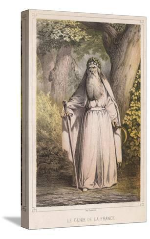 French Druid with Sickle--Stretched Canvas Print