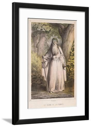 French Druid with Sickle--Framed Art Print